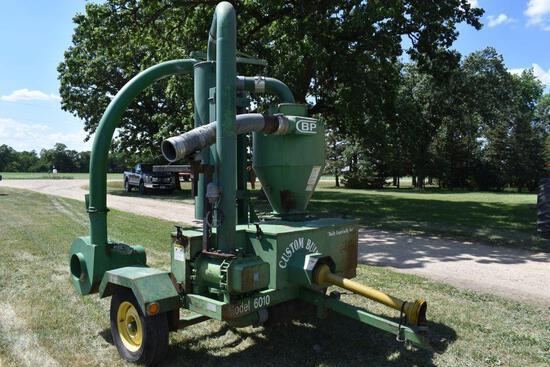Custom Built Pneumatic Grain Vac Model 6010, 1000PTO w/Pipe, SN: 8904