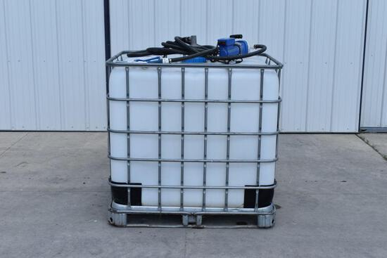 250 Gallon DEF Poly Tank W/ 12 Volt Pump
