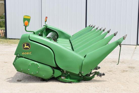 "2014 John Deere 608C Stalk Master Chopping Corn Head, 8 Row 30"", Full Poly, Dual PTO, Single Point,"