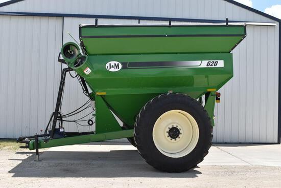 J&M Model 620-14 Grain Cart, 1000PTO, Roll Tarp, DT712 Radial Tires, Tractor Lug, Digi Star Scale,