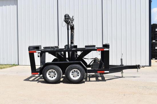 Travis Easy Load, 4 Box Seed Tender, 8hp Power Unit On Tandem Axle Trailer