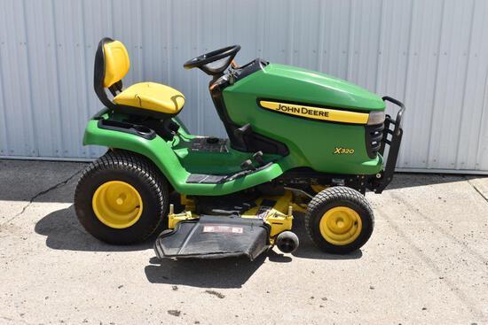"John Deere X320 Lawn Tractor, 48"" Mower Deck, 380 Hours, Hydro Drive, One Owner"