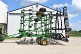 2013 John Deere 2210 Field Cultivator 32.5' Rolling Basket, 2 Bar Harrow, 7