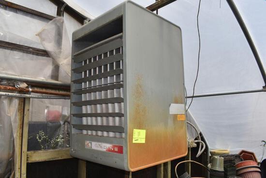 Modine model PA225AB natural gas hanging heater, 225,000 btu input, located in GH 9