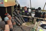 Large assortment of used pots and planters, located in GH 9