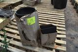 Two boxes of unused pots, located in GH 9