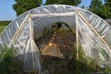 14'x45' hoop greenhouse with fan (No motor), Buyers responsible for removal, must be