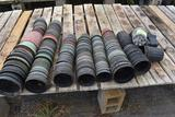Large assortment of used plastic pots , located in GH 9
