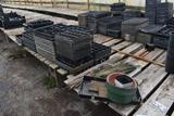 Assortment of bamboo sticks and plastic plant trays, located in GH 24