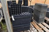 Assortment of plastic plant trays, plug trays, located in GH 24
