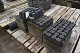 Assortment of plastic plug trays and pots, located in GH 24