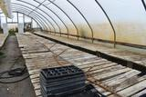 Approx. 180' of wooden greenhouse garden benches 60