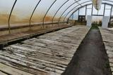 Approx. 180' of wooden greenhouse garden benches 50