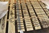 65' wooden greenhouse garden bench with germination tubes with newer Richmond hot