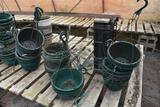 Used plastic hanging pots, located in GH 71