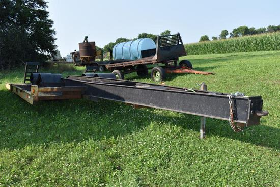 """Sprayer trailer 18' x 140"""" tandem dual wheels, ramps, electric over hydraulic brakes, ag use only"""