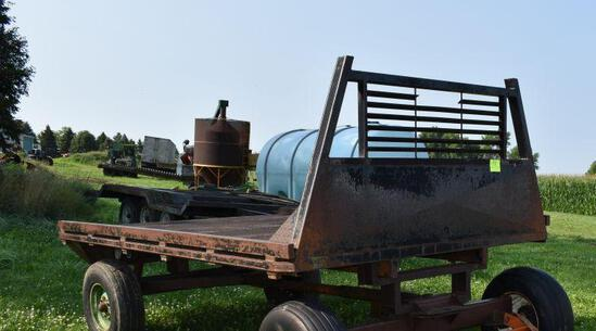 """11' x 90"""" Steel flatbed (running gear not selling)"""