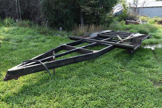 """16' x 120"""" Tri Axle combine trailer, ramps, ag use only"""