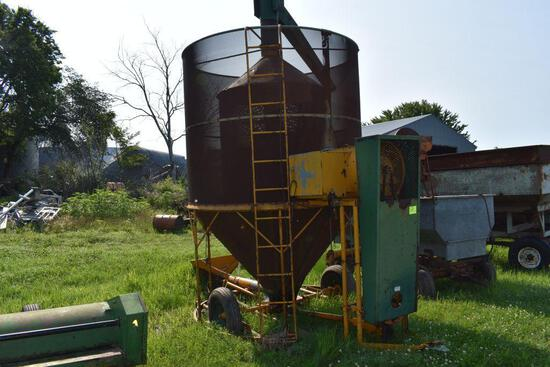 PTO Drive grain dryer, LP gas, on transport