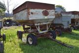 M&W Gravity flow wagon with 10 ton running gear, approx. 250 bushel