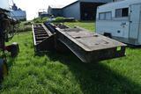 Low Boy semi trailer 20' x 9' tandem axle duals, no deck
