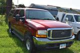 2001 Ford Excursion SUV, 4x4, 7.3 power stroke, 228,729 miles, Edge programmer, updated