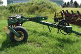 John Deere 2800 plow, 6 bottom, on land 2pt hitch, coulters,