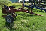 Case IH 800 10 bottom flex plow on land draw bar hitch, coulters, missing one plow bottom,