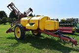 Century 900 Gallon crop sprayer 60' X-fold booms, 13.6 x 38 tires, foamer, hydraulic drive pump,