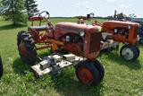 Allis Chalmers C tractor, with Woods L59 belly mower, 11.2 x 24 tires, runs, fenders