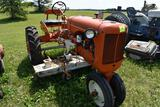 Allis Chalmers C tractor with Woods L59 belly mower, fenders, 9.5 x 24 tires, runs