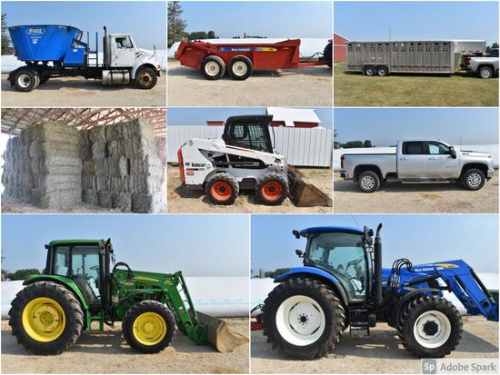 LARGE FARM EQUIPMENT & LIVESTOCK FEED AUCTION