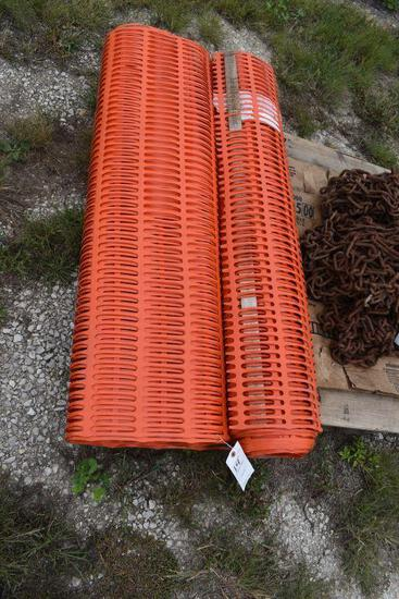 (2) Rolls of Like New Snow Fence