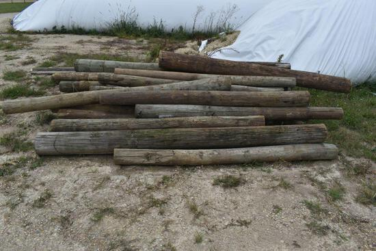 Approximately 40 Wooden Fence Post