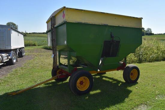 Dakon 200 Bushel Gravity Flow Wagon, New Holland 8 Ton #15 Running Gear, 11L-15 Tires