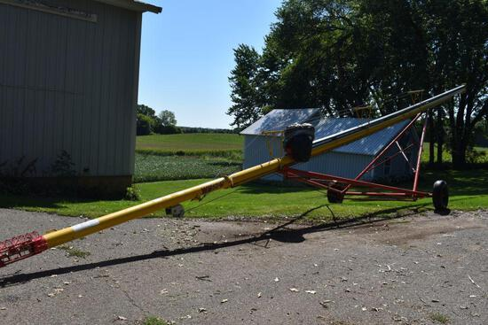 """Westfield WR60-61 Grain Auger, 6""""x61', 5HP Single Phase Motor, Good Condition, SN: 145019"""