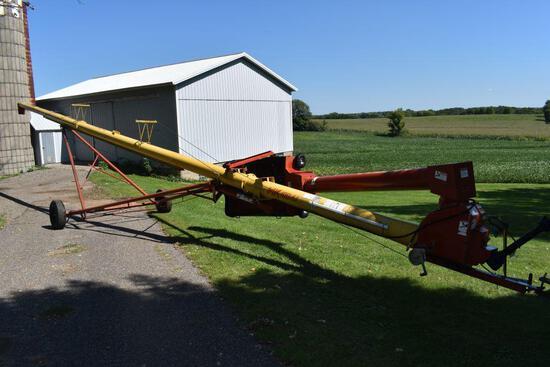 """Westfield MK100-61 Swing Hopper Auger, 10""""x61', Hydraulic Lift, 540PTO, SN: 126194"""