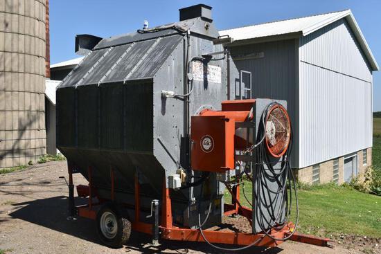 Farm Fans CF/AB150 Crop Dryer, Batch Or Continous Flow, 4 Coloum, Single Axle Transport,