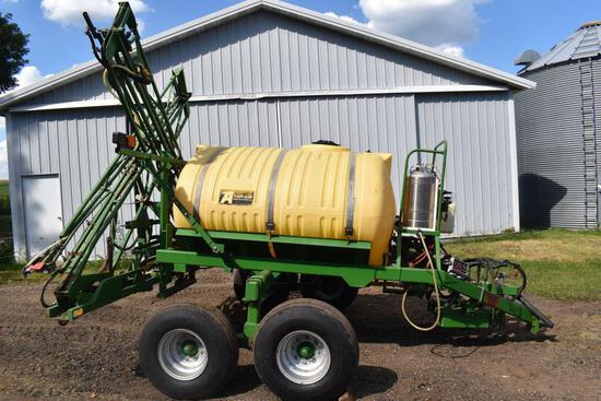 Top Air 1000 Gallon Crop Sprayer, 60' X-Fold Booms, Quick Fill Valves, Foamer, Rinse Tank,