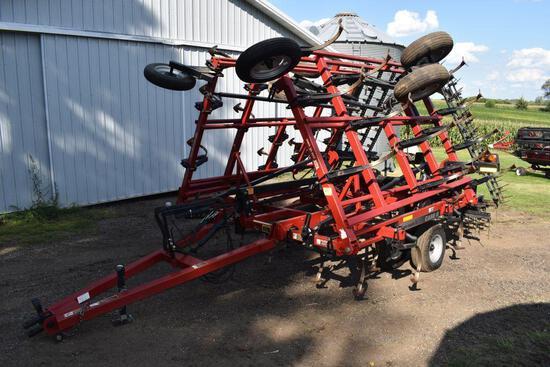 "Case IH/DMI Tiger Mate II Field Cultivator, 26.5', 7"" Sweeps, 4 Bar Coil Tine Harrow, Gauge Wheels,"