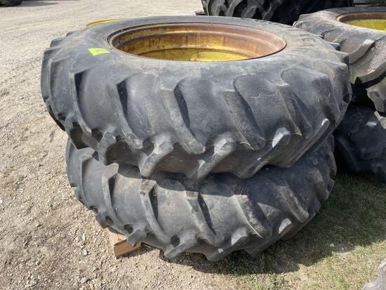 (2) 18.4-38, Tires on Bevel Rims