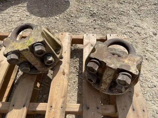 (2) 9 Bolt Dual Axle Hubs, 3 5/8 inch axle