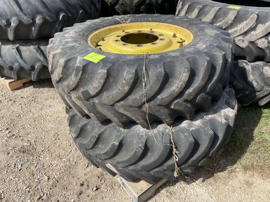 (2) Firestone 14.9x28 Tires on JD Rims, came off 4450, selling 2 x $