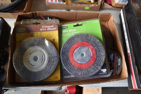 Assortment Of Cut Off Wheels, Wire Wheels