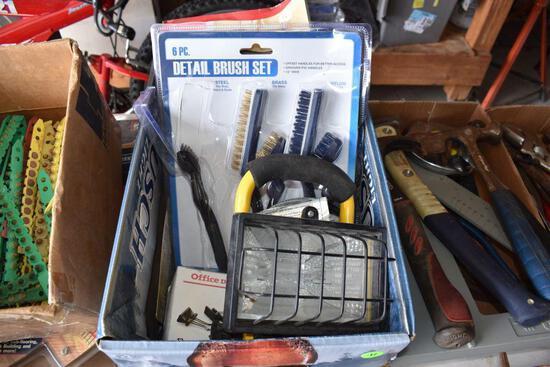 Scissors, Files, Shop Light, Detail Brush Set, & misc.
