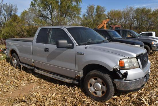 2005 Ford F150 XLT Pickup, 4x4 5.4 Liter Triton, Long Box, Extended Cab With 4 Doors, 244,909