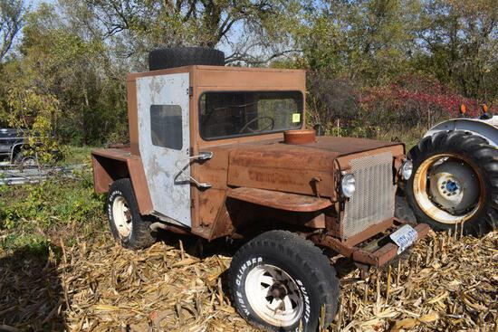 Custom Built 4x4 jeep, flathead V8 motor, manual trans, non running, selling with NO TITLE or
