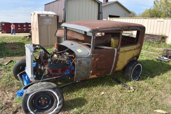 Ford Model A Rat Rod Project Car, Ford Flathead V8, With Trans