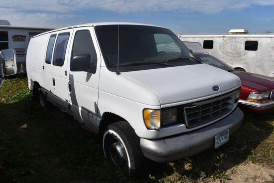1995 Ford Cargo Van, Auto, Very Rusty, Non-running