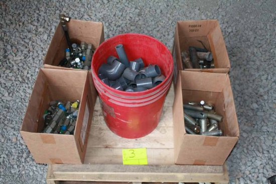 Hydraulic Hose Fittings and Assortment of Pins
